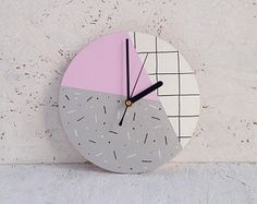 Bedroom ideas, decorating reference 4175719785 - look at this essential classy decor. Pink Wall Clocks, Wall Clock Wooden, Led Wall Clock, Pink Bedroom Design, Pink Bedroom For Girls, Bedroom Turquoise, Office Wall Decor, Home Decor Wall Art, Home Decor Bedroom