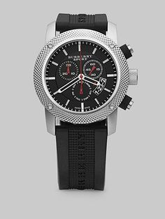 Burberry Stainless Steel Chronograph Watch $495.00
