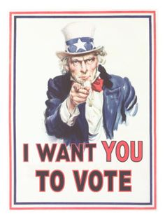 I want your vote