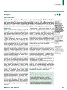 RT @TheLancet Dengue Seminar, in current print issue