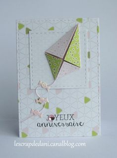 dani défi n°444 PCC triangles : 19-052016 Scrapbooking, Scrapbook Cards, Emotions Cards, Origami, Wedding Anniversary Cards, Paper Pumpkin, Diy Cards, Graphic, Special Day