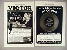 Victor Phonograph / Records Talking Machine PRINT AD - 1904 ~ LOT of 2 diff. ads