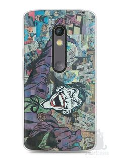 Capa Capinha Moto X Play Coringa Comic Books - SmartCases - Acessórios para celulares e tablets :)