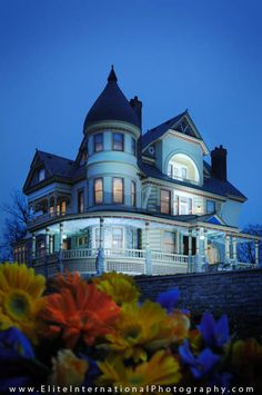 Blue, three story home. Something I wanted when I was younger.