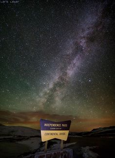 Milky Way fro Independence Pass by photographer Lars Leber State Of Colorado, Colorado Homes, Colorado Hiking, Colorado River, Colorado Mountains, Rocky Mountains, Pikes Peak, New Mexico, Oh The Places You'll Go