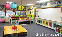 2013 Classroom Reveal {At Last!} LOVE Maria's colorful new kindergarten classroom setup!