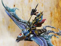 High Elf Frost Phoenix #warhammer #whfb #wh #aos #ageofsigmar #sigmar #chaos #gw #gamesworkshop #wellofeternity #miniatures #wargaming #wargames #fantasy #hobby