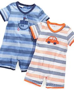 First Impressions Baby Sunsuits, Baby Boys Stripe Jersey Sunsuit - Kids Baby Boy (0-24 months) - Macys