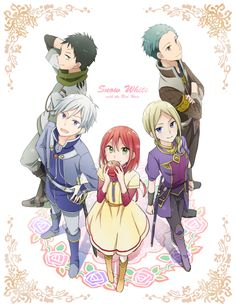 Akagami no Shirayukihime / Snow White with the red hair anime and manga || Prince Zen, Shirayuki, Obi, Mitsuhide, and Kiki