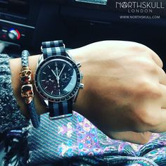 Fan Instagram Pic !   While in his Audi @d.u.c.toan shows us his style by pairing his Omega Speedmaster Watch with our Steel Grey Nappa Leather