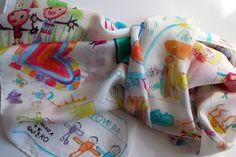 Zijden sjaal Hand geschilderd Childrens van gilbea op Etsy