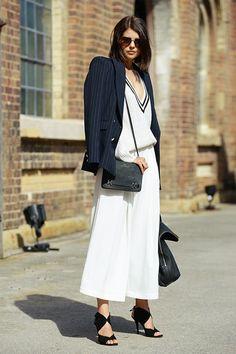 talisa sutton look total white blazer black