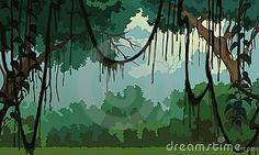 Jungle background - Pleasant Scenery