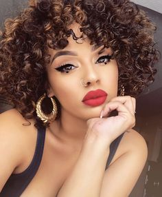 Beauty Makeup, Hair Makeup, Hair Beauty, Eye Makeup, Beauty Style, Viva Glam Kay, Curly Hair Styles, Natural Hair Styles, Makeup On Fleek