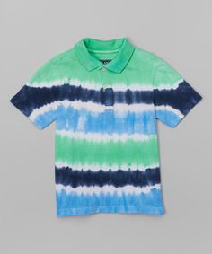 Another great find on #zulily! Green Grapes Tie-Dye Polo - Toddler & Boys #zulilyfinds