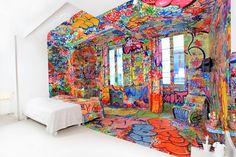 graffiti panic habitación room bedroom hotel wtf decoration decoración miraquechulo