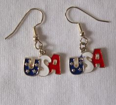 Patriotic USA Red White and Blue Charm by ShadowoftheCross on Etsy