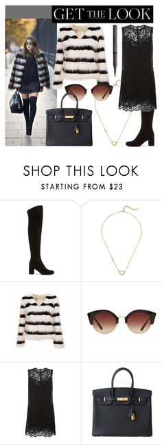 """""""Get the Look - Winter 2016"""" by randomfashioncollections ❤ liked on Polyvore featuring Yves Saint Laurent, Cole Haan, MANGO, Dolce&Gabbana, Hermès, Burberry, GetTheLook, black, neutrals and fauxfurcoats"""