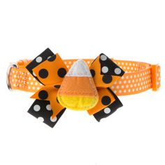 Thrills & Chills™ Pet Halloween Candy Corn Dog Collar | Collars | PetSmart