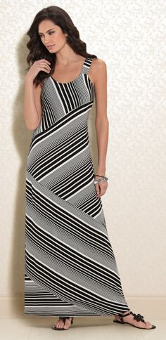 Right Angles  Soma Angled Stripe Maxi Dress in Gradient Stripe  LoveSoma   SomaIntimates   ee2a470a0