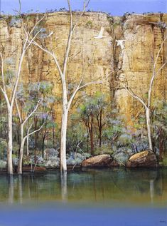 © Ingrid Windram 2014<br />Along the Murray<br>Acrylic on canvas<br>70 x 100 cm<br>$11,000 | Available