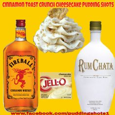 Cinnamon Toast Crunch Cheesecake Pudding Shots.  See full recipe and more on www.facebook.com/puddingshots1