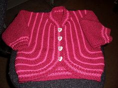 Ravelry: Yvette's Garter Stitch Baby Sweater pattern by Yvette O'Brien