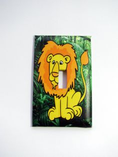 Light Switch Cover  Light Switch Plate Jungle by TurtleboneToo, $8.00