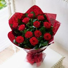Fresh bouquet of 10 #Red#roses @650.00. Shop us immediately and enjoy #same #day #delivery at discounted price.