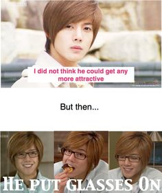 Rachel will like this one (its jihoo).... When hot kpop guys put on glasses…