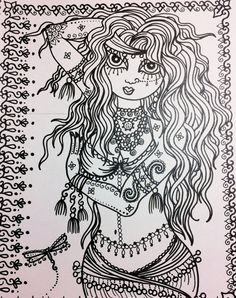 FUN & FLIRTY Belly Dancer Coloring Book for you by ChubbyMermaid