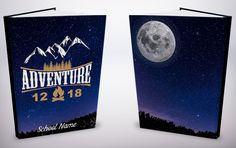 Our brand new covers for 2018 include this gorgeous moonlight design! Yearbook Covers, Cover Design, Moonlight, Adventure, Create, Amazing, Prints, Adventure Movies, Adventure Books