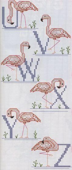 Flamingos Alphabet 4/4