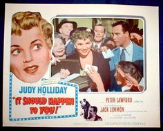 IT SHOULD HAPPEN TO YOU Lobby Card Judy Holliday Jack Lemon George Cukor 1954