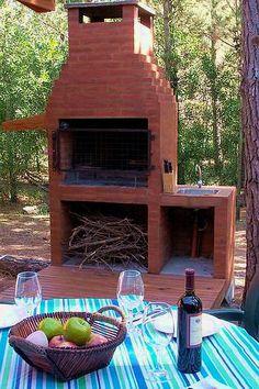 parilla comme foyer extérieur et comme BBQ au charbon de bois.
