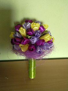 Kanzashi tulip buquet