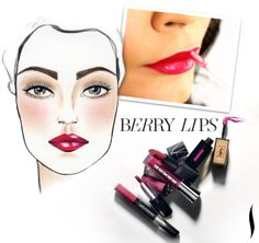 Sephora Glossy / Making Faces: Five Steps to Extraordinary Berry Lips