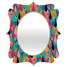 Vy La Love Birds 1 Quatrefoil Wall Mirror