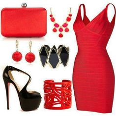 Perfect sexy and red!!! Everything u want in an outfit for a date
