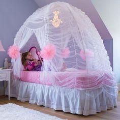 Bedroom tent canopy fairy tale bed tent in kids room decor girls bed tent canopy home . Dream Bedroom, Girls Bedroom, Bedroom Decor, Bedroom Ideas, Master Bedroom, Little Girl Beds, Girls Canopy, Princess Bedrooms, Unicorn Bedroom