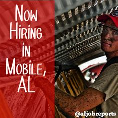 Now Hiring Millwrights, Electricians, & Machinists in Mobile, AL #aljobreports