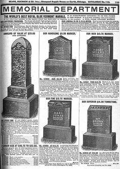 Headstones in the Sears Catalog by SA_Steve, via Flickr   SEARS !!!!