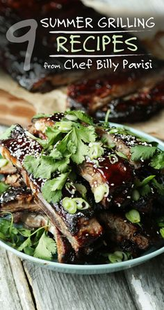 Memorial Day | 9 summer grilling recipes from Chef Billy Parisi | Korean BBQ, Salmon Sliders, and more scrumptious options to whip out this summer | Featured: Honey-Hoisin Grilled Spare Ribs