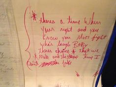 Handwritten Michael Jackson lyrics from Leave Me Alone. See them in person at In The Studio With MJ. Coming to Orlando, Sept 6 - www.inthestudiowithmj.com