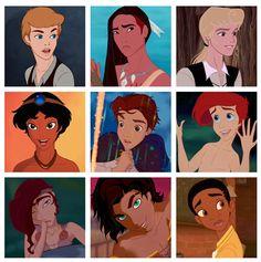 Disney Princess as Princes