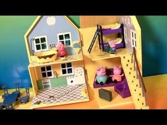 Peppa Pig at New Shopkins Supermarket Small Mart Store with Disney Princess Sofia the First Play Doh - YouTube