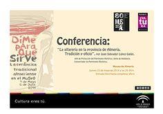 """Conferencia: """"La alfarería en la provincia de Almería. Tradición y oficio"""", por Juan Salvador López Galán. Jueves 15 de mayo de 2014 a las 20:00 h. Entrada libre hasta completar aforo"""