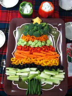 Christmas veggie tray I made!
