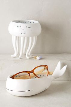 A catch-all shaped like a chill octopus or a wistful whale. | 19 Adorable Things That Will Actually Organize Your Desk