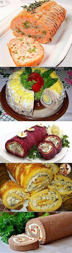 TOP - 9 rulo aperatif tatil tablo için yemek tarifleri ve her gün